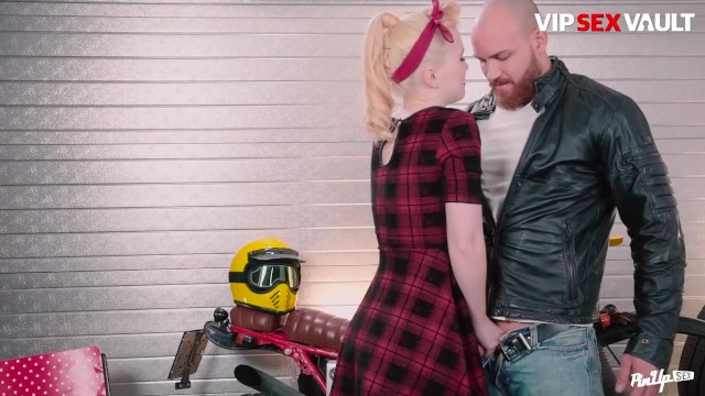 PinUpSex - Misha Cross Big Ass Polish Blonde Beauty Passionate Fuck On Boyfriends Bike 17