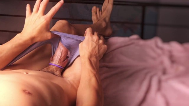 Sorona 1-2 - Cute shemale showing cock and stroking in lingerie with multiple slow motion cumshots 13