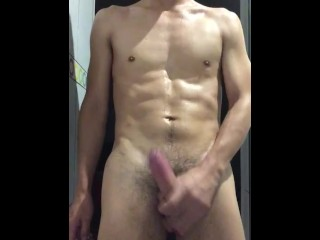 Hot latino guy dick at the gym shower...