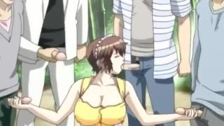 Gangbang and Bukkake with the Housekeeper - Uncensored Hentai