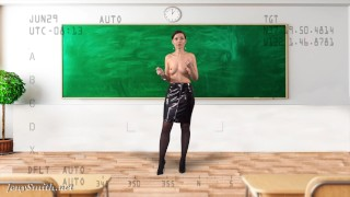 Undress the teacher with X-Ray Glasses — VR by Jeny Smith