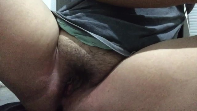 Chubby Asian rubs clit while watching porn 9