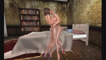 Shiny Pantyhose Lesbian Pornshoot