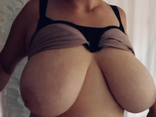Boob drop, massage and play in the morning