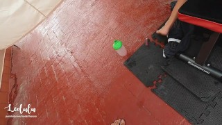 Nasty Post Workout Fuck w Deepthroat, Squirt and intense Orgasm! - Amateur LeoLulu
