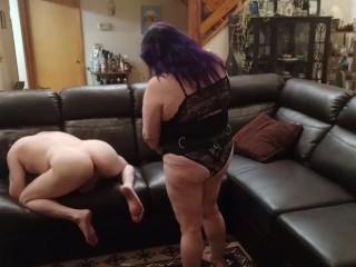 Licking ass him hard...