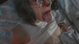 Fucked a tender kitty and filled her face with sperm