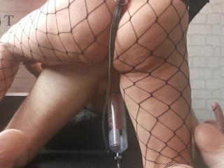 Pegged & Stretched With Massive Strapons - His Asshole Was Wide Opened