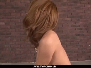 Haruka Sanada feels the whole dong smashing her cunt – More at 69avs com