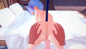 Sex with neko Rem in heat |POV|