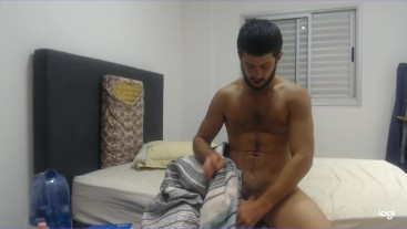 Straight guy tricked thinks you're a girl, jerks his HARD cock and talks DIRTY
