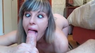 Ahegao Babe Eye Crossing Deepthroat - Pussy Worship - Missionary - Anati Brown (short version)