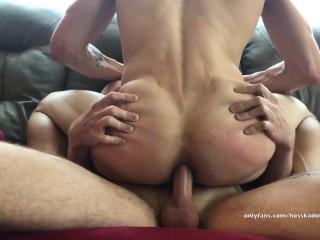 Daddys boy kinky bareback pov threesome muscle hunks...