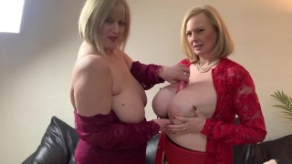 2 Very Busy Milfs enjoy some naughty Tit Play. Come and join in the filthy fun!