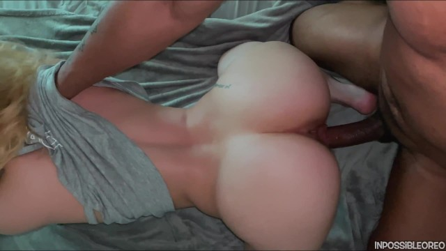 Big white booty big black cocks Slim thick round booty pawg gets fucked by black dick from behind cumshot on ass