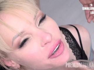 Premium Bukkake - Lola Taylor swallows 67 huge mouthful cum loads