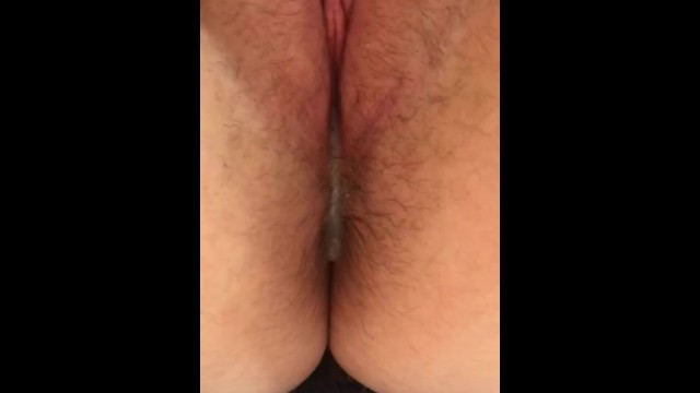 look at his cum dripping out of my pussy 2
