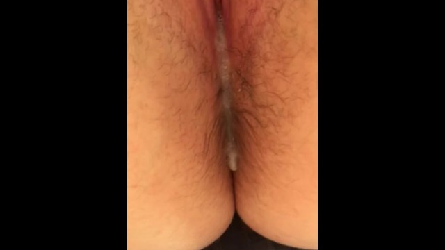 look at his cum dripping out of my pussy 44