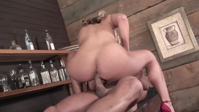 Young Blonde Busty Beautiful Cheating Wife With Virgin Tight Ass Gets Analed By The Bartender 1