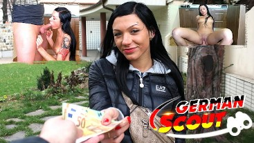 GERMAN SCOUT - SMALL ASS BLUE EYES TINY TEEN I ADELLE TALK TO FUCK AT STREET PICKUP
