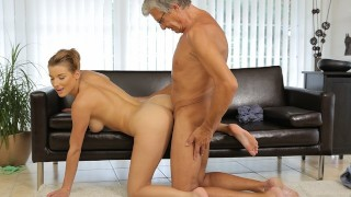 DADDY4K. Busty young lady loves her boyfriends dad more than him