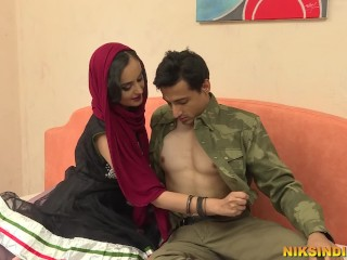 Hot talks dirty in hindi and gets fucked...