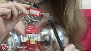 I put keys in my body, and I break the key of my chastity belt