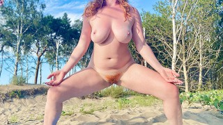 Cum On Red Hairy Pussy