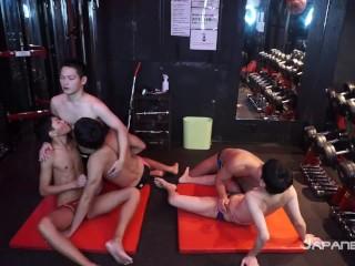 Japanese swimmer speedo orgy...