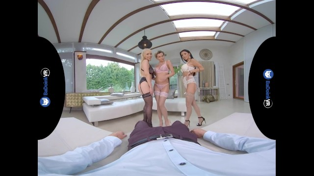 Foursome Orgy With Three Busty MILFs Subil Arch, Nelly Kent and Christina Shine 11
