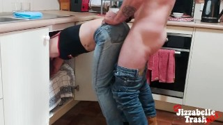 Wife Needs Help! Stuck Under Sink With Ripped Jeans