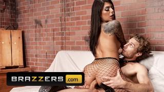 brazzers – hot brunette gina valentina riding michael vegas huge penis – teen porn