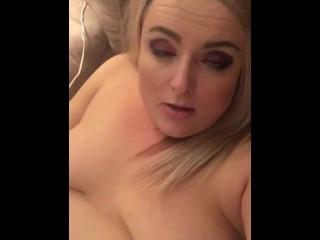 Selfie eye rolling orgasm