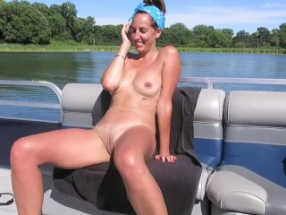 Enf boat off thong and slowly massages kitty...