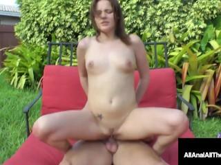 Ultra Cute Sweetie Jasmine Wolff Fucked On The Back Patio!