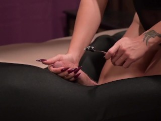 CBT SLAVE GETS COCK TORTURE WITH PINWHEEL TO TEST HIS LIMITS WARTENBERG TOY