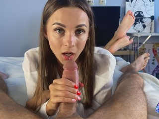 Gentle blowjob from a sexy brunette - DIANA HURACAN amateur homemade porn tube