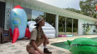 Dani Daniels and Cherie DeVille fight over huge GATOR TRAILER