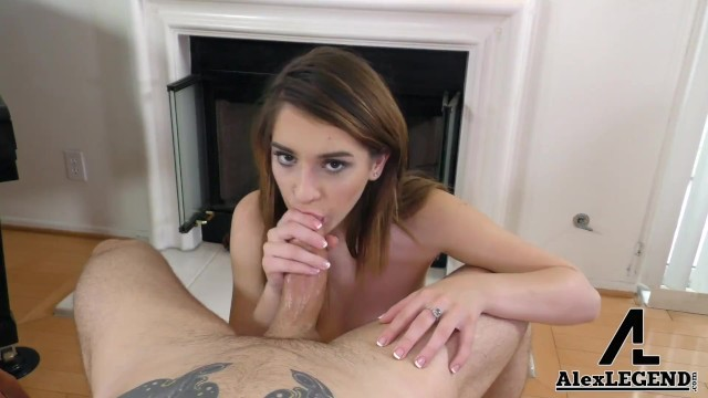 Hot Teen Joseline Kelly Sucks A Huge Cock! 14