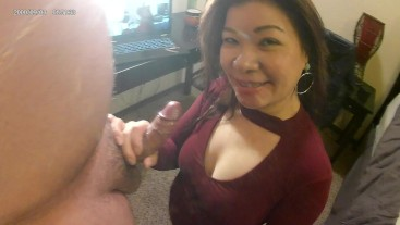 Amateur Asian couple first porn video