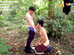 My high school crush fucks me in the forest (asian interracial)