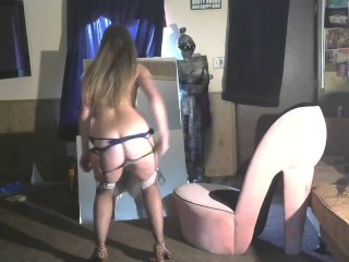 1st Stripping Video  in Heels For You…. Cum See