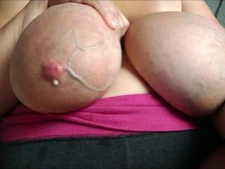 Huge veins big saggy milk filled...