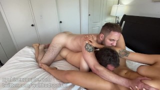 Wolf Hudson fucks NYCBISEXCOUPLE in their hottest 3some yet!