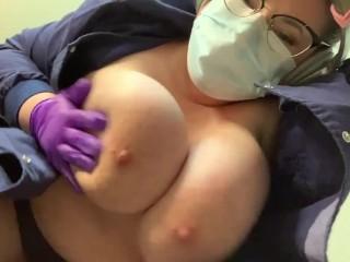 Nurse slapping heavy together...