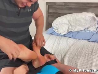 Bondaged twink tickling fetish softcore torment...