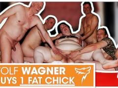 One fat slut needs three dicks to get satisfied! WOLF WAGNER