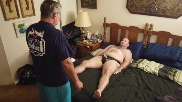 Sir T uses electro to torture my cock and balls before fucking my throat