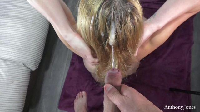 Natures gate facial wash Dirty slut gets throat fuck and wash her hair with piss and cum