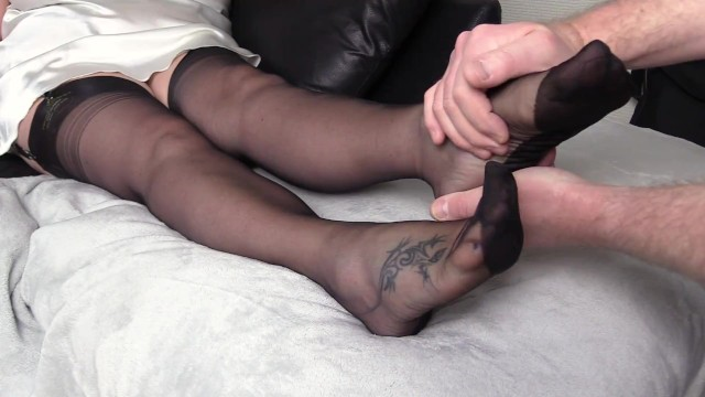 Mature Nylon Foot Fetish